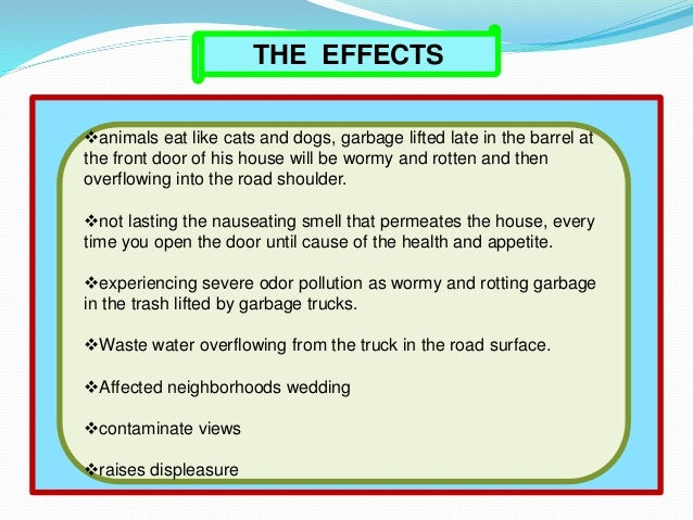 Solid waste management with animation