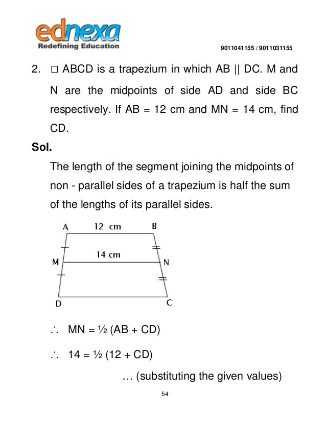how to find the parallel side of a trapezium