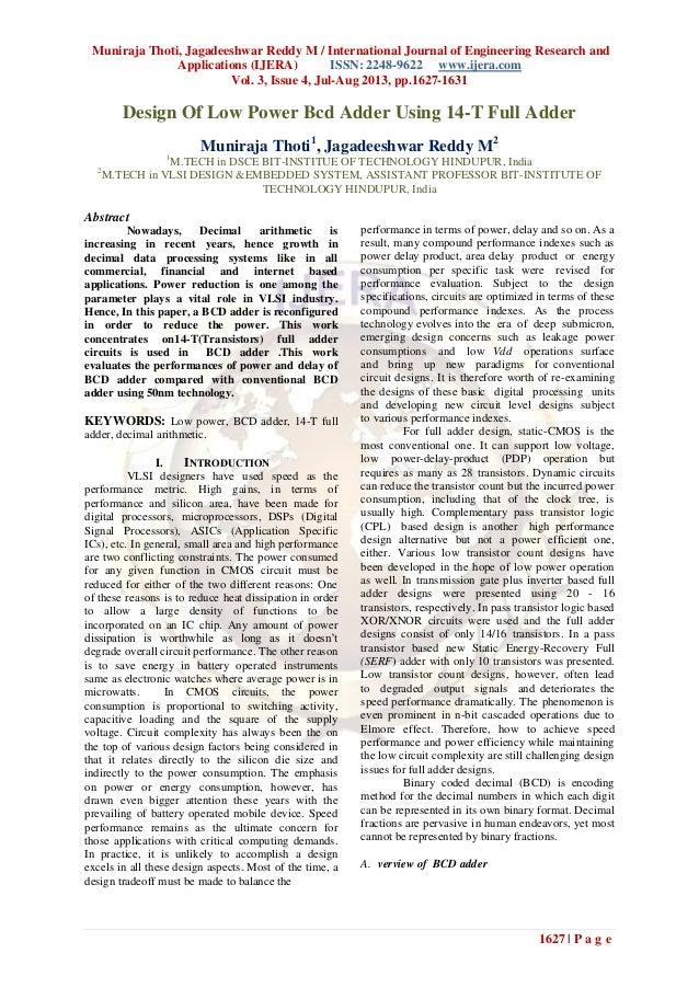 Muniraja Thoti, Jagadeeshwar Reddy M / International Journal of Engineering Research and Applications (IJERA) ISSN: 2248-9...