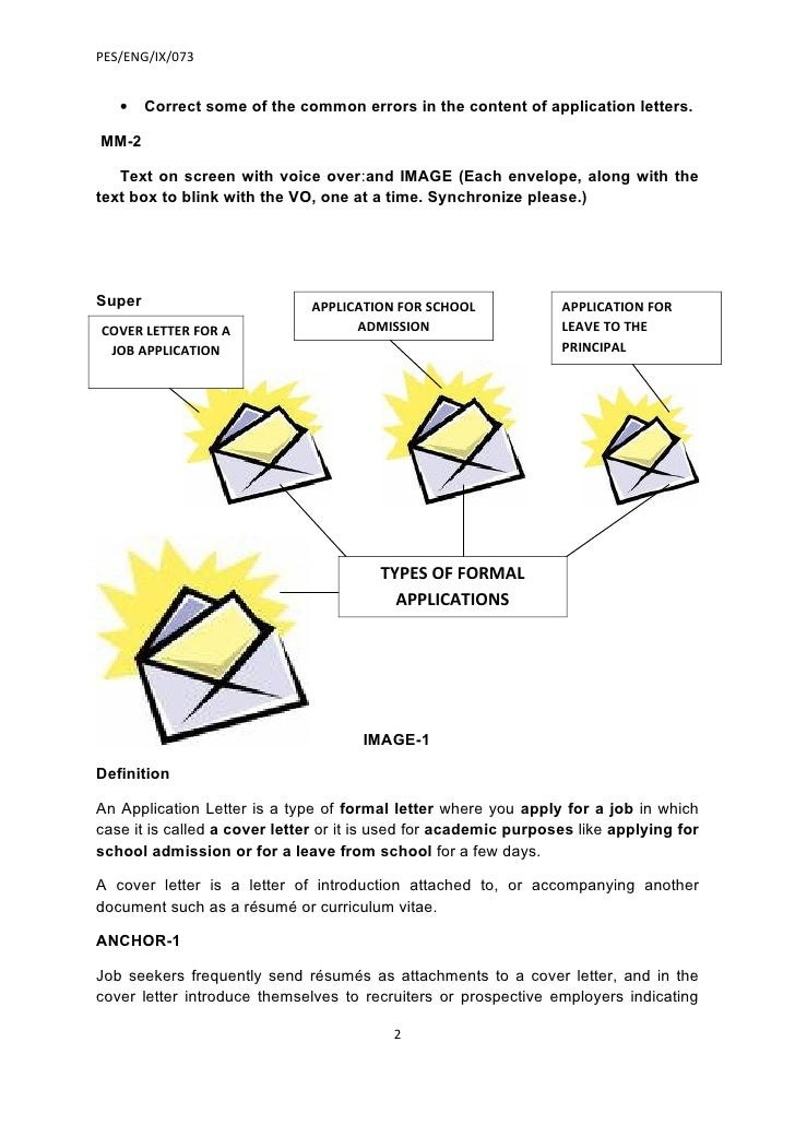 write a job application letter 1 2