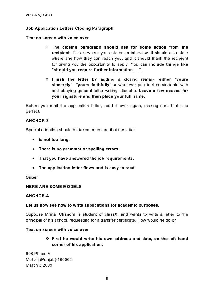 Application letter how to end for Ending a covering letter