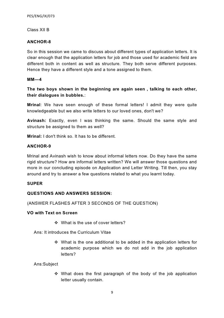 RBSE Class 12 English Letter Writing Application for a Job