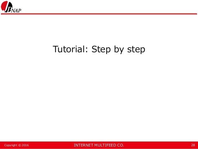 INTERNET MULTIFEED CO.Copyright © 2016 Tutorial: Step by step 28