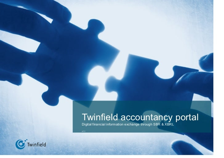 Twinfield accountancy portal Digital financial information exchange through SBR & XBRL v1.1