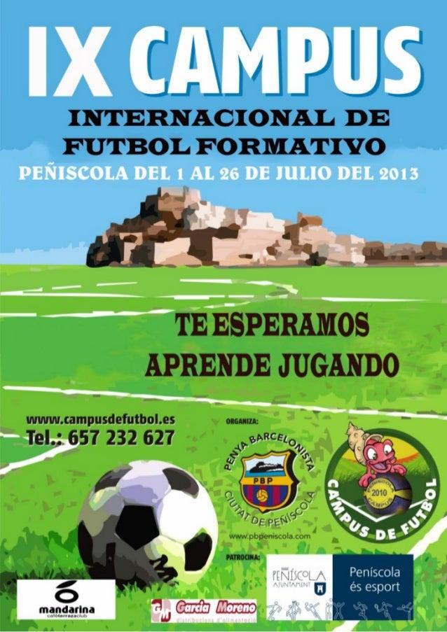 Ix campus internacional de futbol formativo 2013 peñíscola