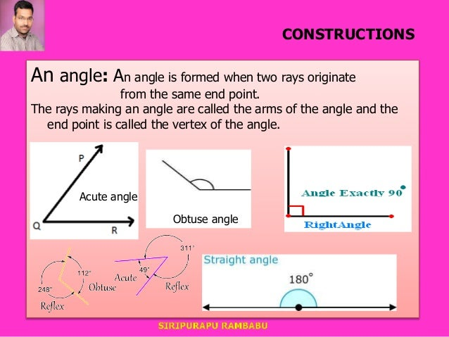 9TH CBSE lines and angles introduction ppt BY RAMBABU SIRIPURAPU