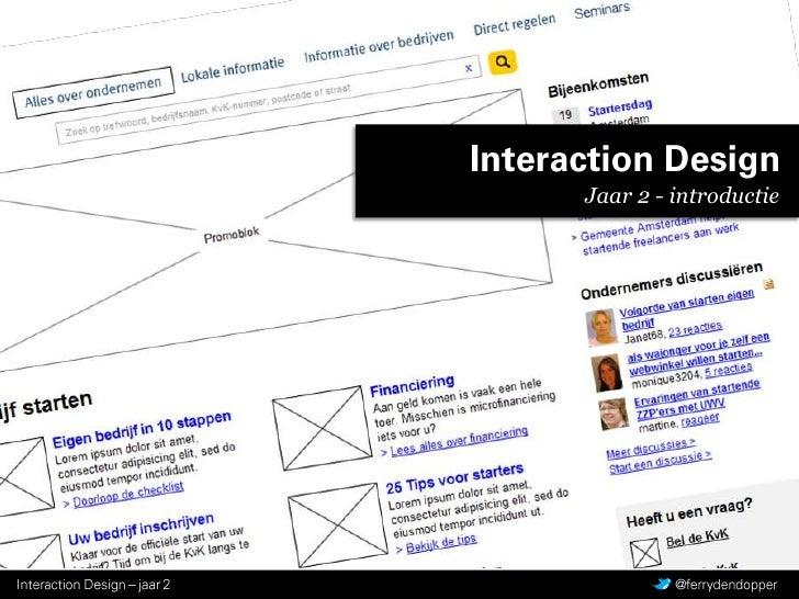 Interaction Design<br />Jaar 2 - introductie<br />