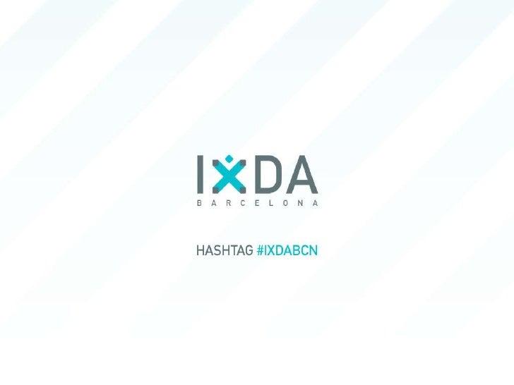 IxDa Barcelona Launch