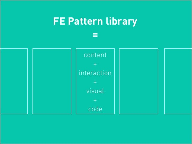 Why To Use A Pattern Library For Visual Ux Design