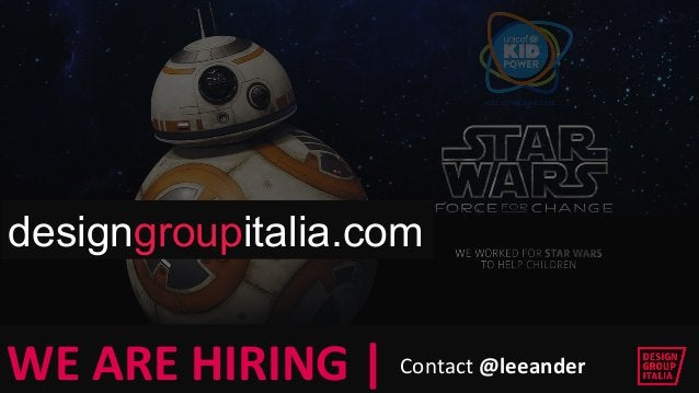 © DESIGN GROUP ITALIA  © DESIGN GROUP ITALIA  WE ARE HIRING   Contact @leeander  designgroupitalia.com