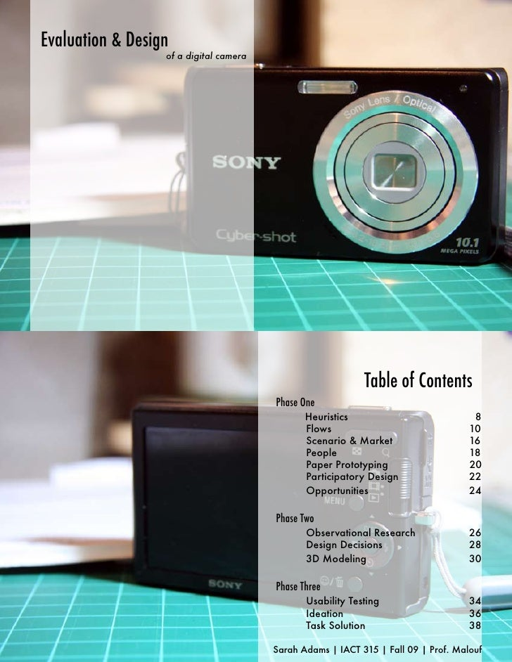 Evaluation & Design                   of a digital camera                                                                 ...