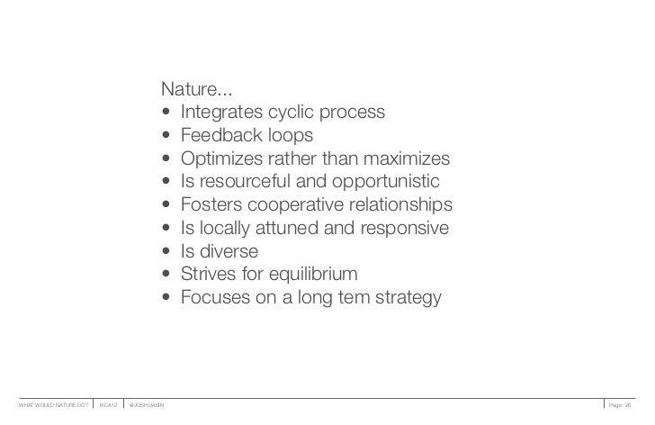 Nature...                                          • Integrates cyclic process                                          •...