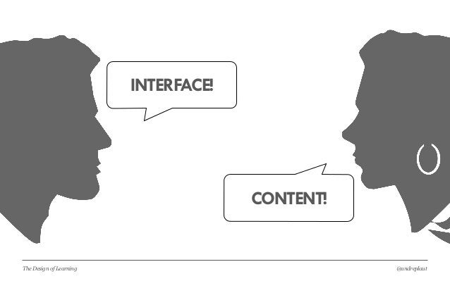 @andreplautThe Design of Learning INTERFACE! CONTENT!