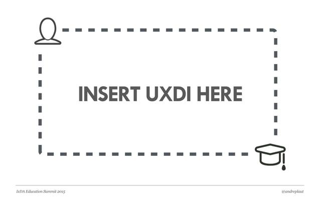 @andreplautIxDA Education Summit 2015 3HOW WE BUILT UXDI