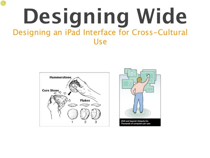 Designing WideDesigning an iPad Interface for Cross-Cultural                     Use