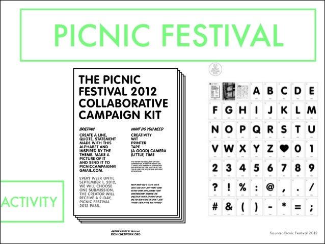 PICNIC FESTIVAL Source: Picnic Festival 2012 ACTIVITY