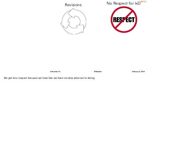 No Respect for IxD  Revisions  Interaction 14  @lishubert  We get less respect because we look like we have no idea what w...