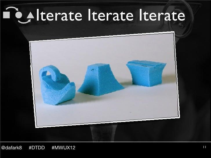 Iterate Iterate Iterate@dafark8   #DTDD   #MWUX12             11