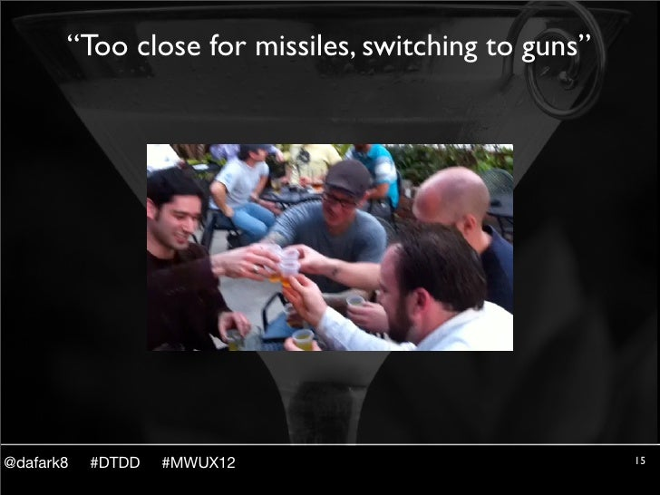 """""""Too close for missiles, switching to guns""""@dafark8   #DTDD   #MWUX12                           15"""