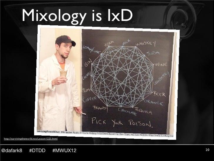 Mixology is IxD http://survivingtheworld.net/Lesson1225.html@dafark8             #DTDD              #MWUX12   20
