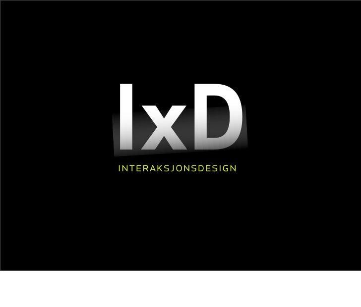 IxD interaksjonsdesign