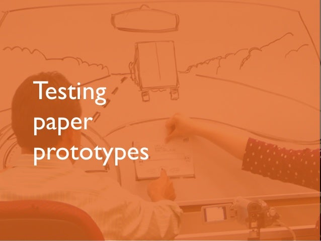 Testing  paper  prototypes