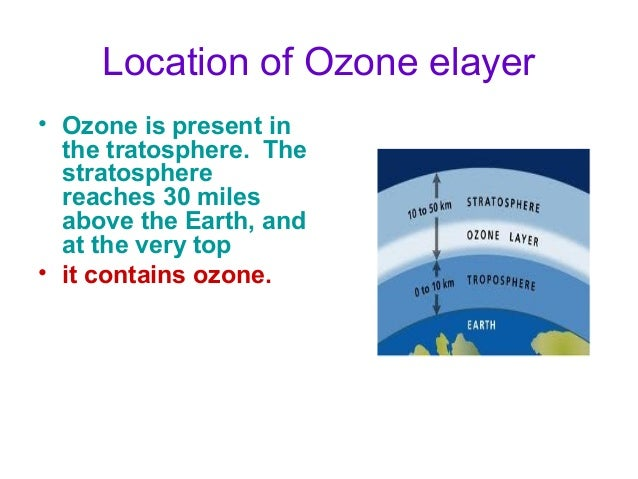 Functions of Ozone layer • The ozone layer shields the entire Earth from much of the harmful ultraviolet radiation that co...