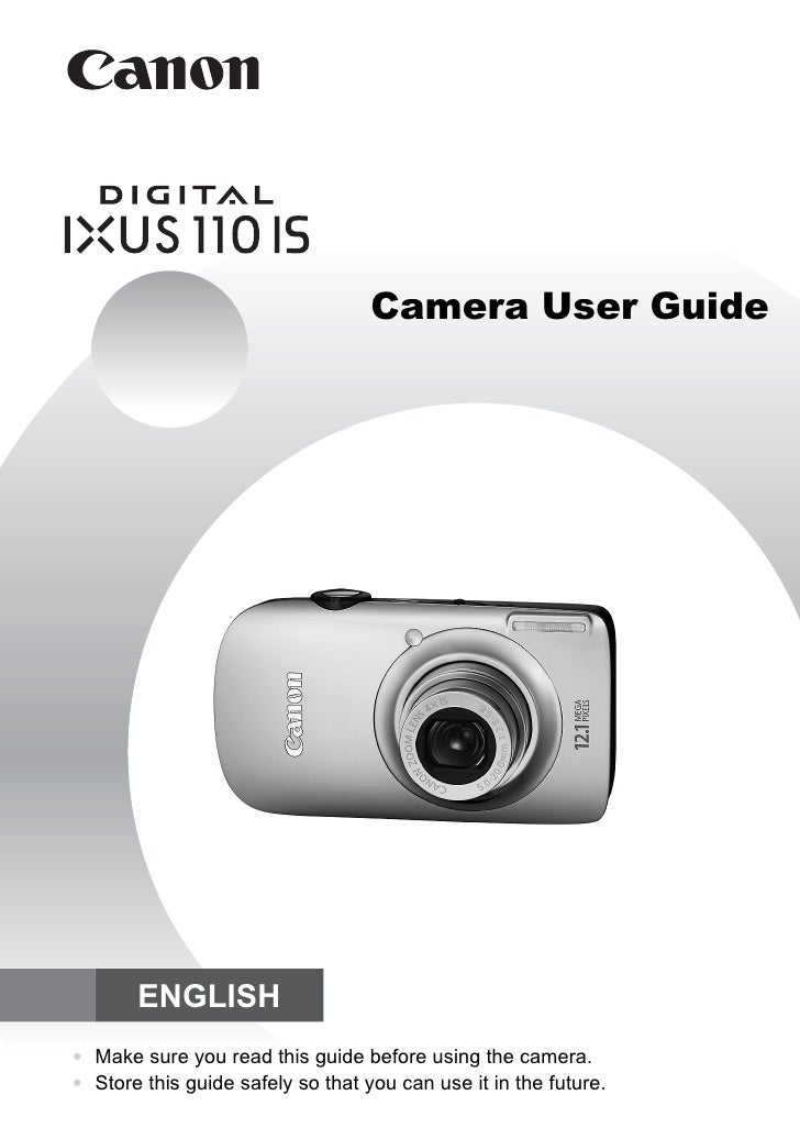 Camera User Guide            ENGLISH • Make sure you read this guide before using the camera. • Store this guide safely so...