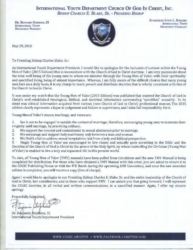 Pastor Ben Stephens Apology Cogic Iyd Rh Slideshare Net Training Manual  Templates Microsoft Word Training Manual
