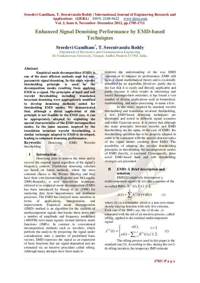Sreedevi Gandham, T. Sreenivasulu Reddy / International Journal of Engineering Research and               Applications (IJ...