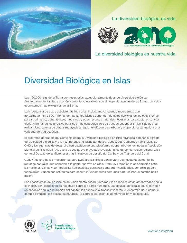 La diversidad biológica es vida                                                           La diversidad biológica es nuest...