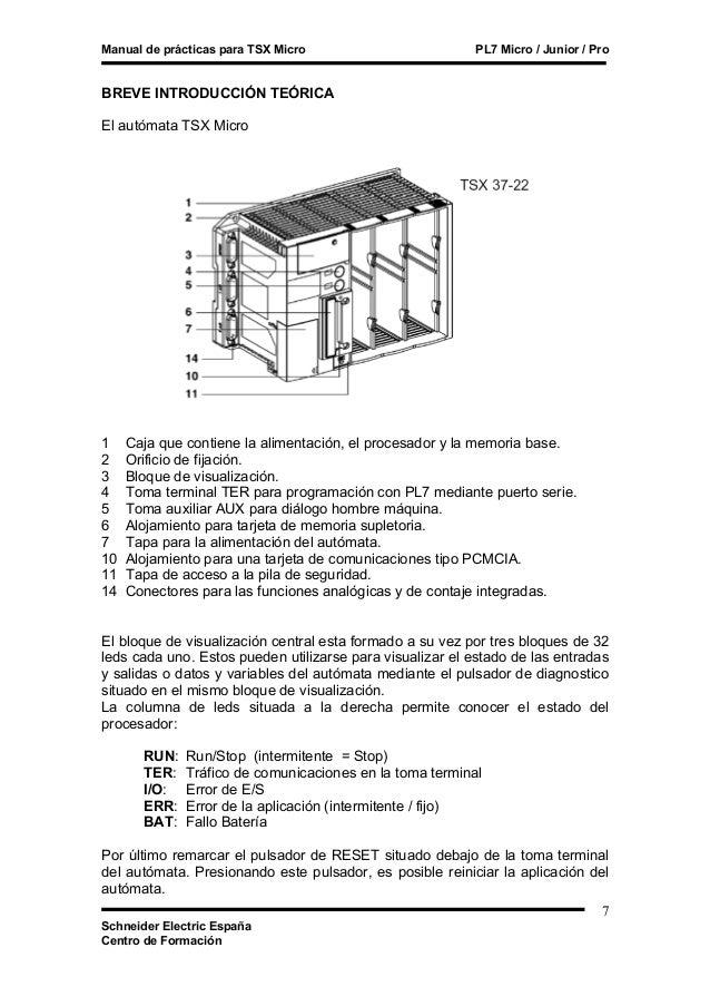 Manual de Practica para TSX MICRO