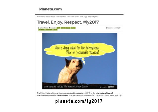 International Year of Sustainable Tourism for Development #iy2017 Slide 3