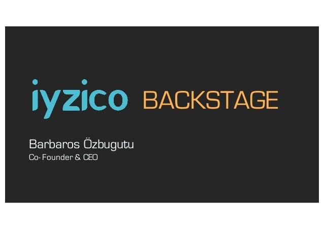 Barbaros Özbugutu Co- Founder & CEO BACKSTAGE