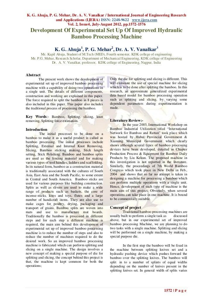 K. G. Ahuja, P. G. Mehar, Dr. A. V. Vanalkar / International Journal of Engineering Research                 and Applicati...