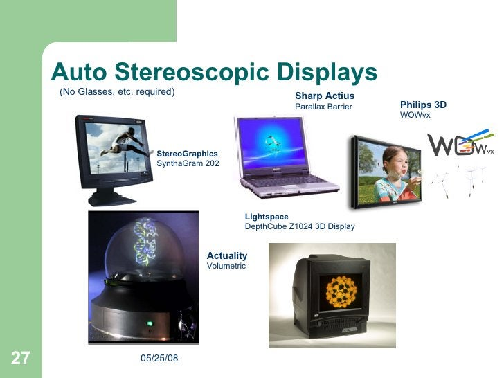 Lightspace DepthCube Z1024 3D Display  Auto Stereoscopic Displays StereoGraphics SynthaGram 202   (No Glasses, etc. requir...