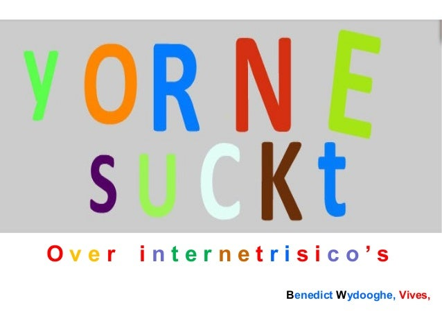 Over  internetrisico's Benedict Wydooghe, Vives,