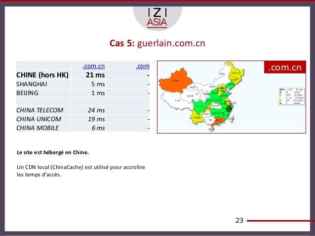 Cas 5: guerlain.com.cn                          .com.cn               .com                 .com.cnCHINE (hors HK)         ...