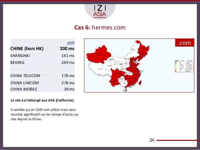 Cas 6: hermes.com                                      .com                          .comCHINE (hors HK)                  ...
