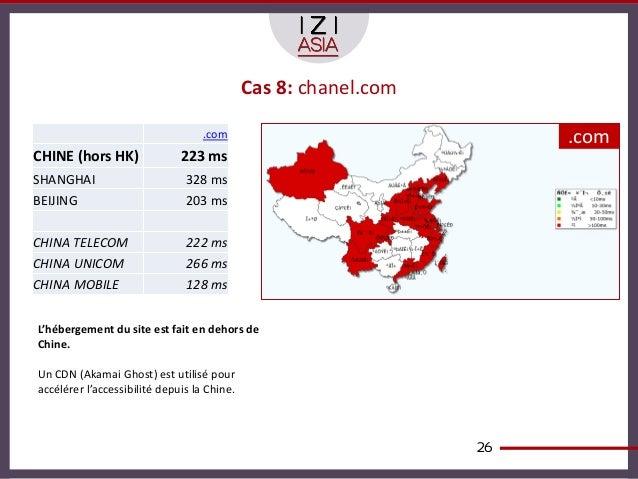 Cas 8: chanel.com                                   .com                               .comCHINE (hors HK)               2...