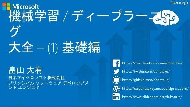 #azurejp https://www.facebook.com/dahatake/ https://twitter.com/dahatake/ https://github.com/dahatake/ https://daiyuhatake...
