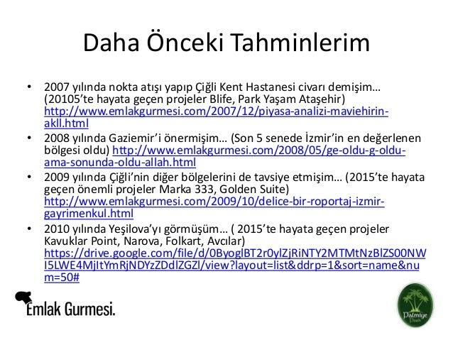 İzmir'de Nereye Yatırım Yapmak Lazım? Slide 2