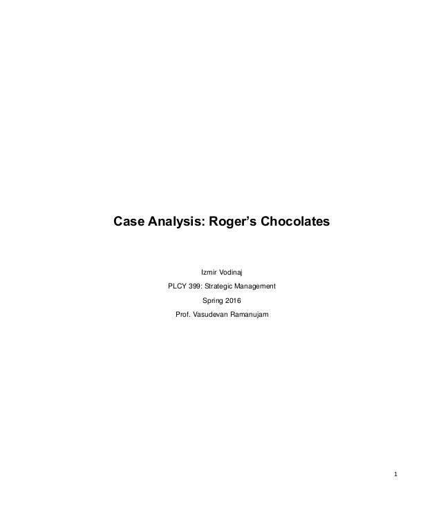 rogers chocolates case study ivey