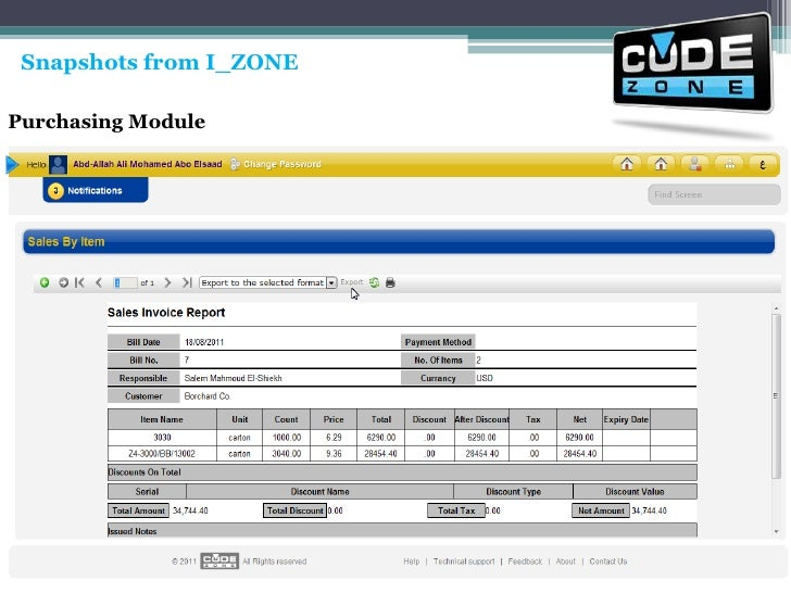 Snapshots from I_ZONE<br />Purchasing Module<br />