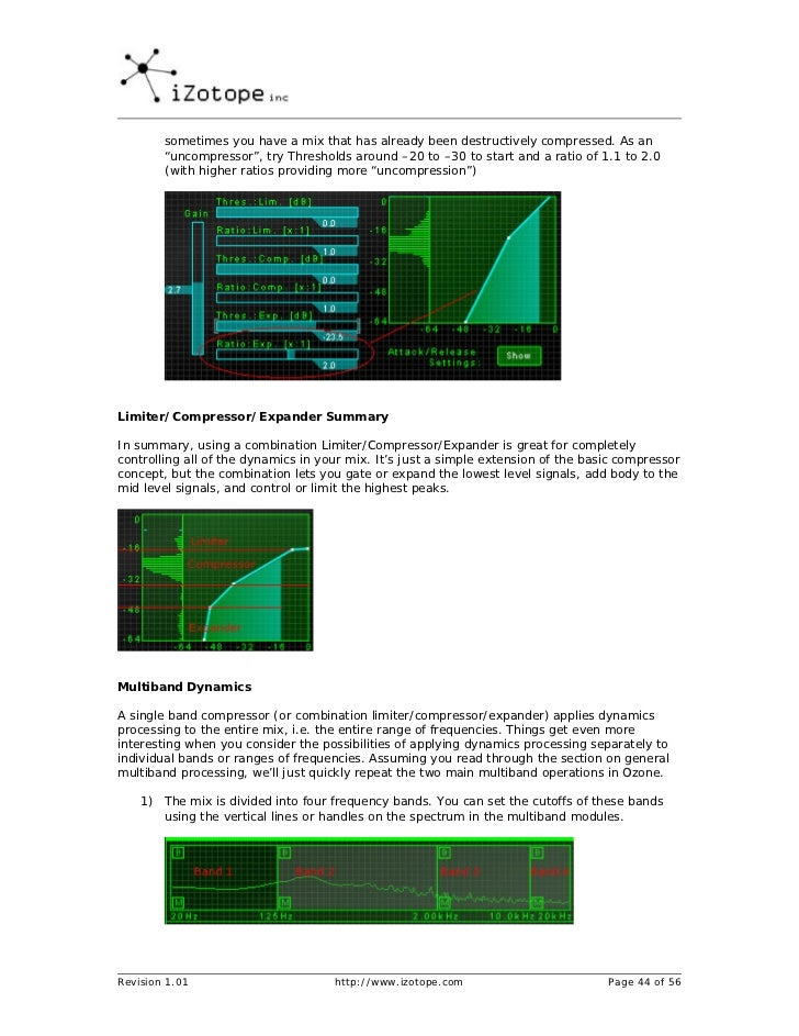 Izotope ozone mastering guide (ingles)