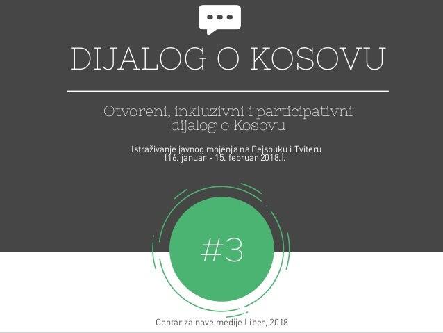 DIJALOG O KOSOVU Otvoreni, inkluzivni i participativni dijalog o Kosovu #3 Centar za nove medijeLiber, 2018 Istraživanje ...