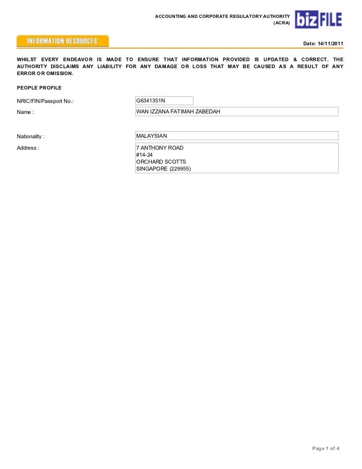 ACCOUNTING AND CORPORATE REGULATORY AUTHORITY                                                                             ...