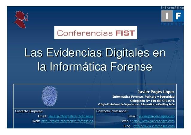 Las Evidencias Digitales en       la Informática Forense                                                                  ...