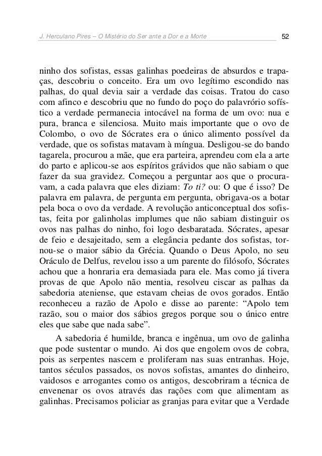 J. herculano pires o mistério do ser ante a dor e a morte