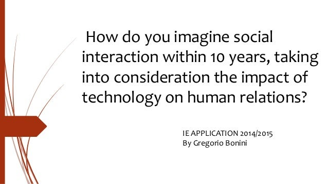 Impact of technology on human interaction